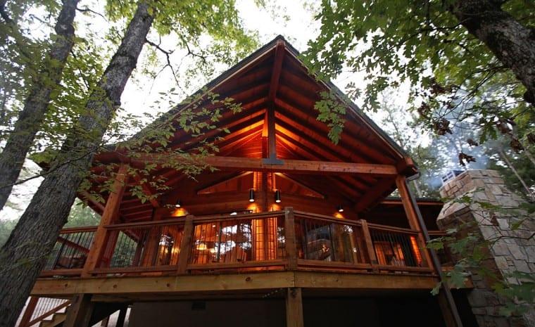 broken bow lake cabin rentals sunset creek spa cabin