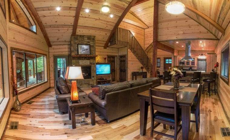 Broken Bow Lake Cabin Panorama